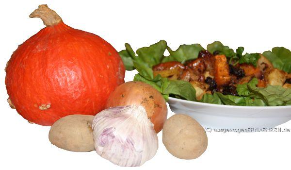Gesundes Abendessen: Ofengemüse auf Blattsalat
